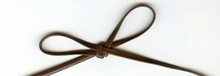 "1/8"" Faux Leather Trim Brown"