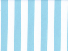 1 Inch Stripes Cotton Aqua