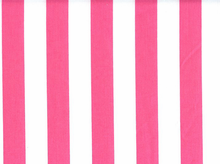 1 Inch Stripes Cotton Hot Pink