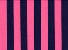 1 Inch Stripes Cotton Hot Pink/Navy