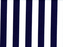 1 Inch Stripes Cotton Navy
