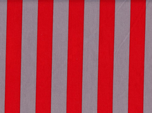 1 Inch Stripes Cotton Red/Grey