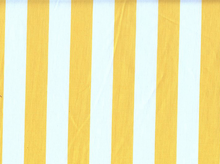 1 Inch Stripes Cotton Yellow