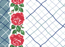 "16"" Towel Blue Rose"