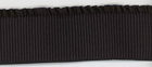 "2.5"" Wide Ribbed Elastic With Ruffle Black"