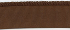 "2.5"" Wide Ribbed Elastic With Ruffle Brown"