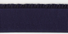 "2.5"" Wide Ribbed Elastic With Ruffle Navy Blue"