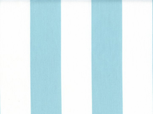 2 Inch Stripes Cotton Aqua