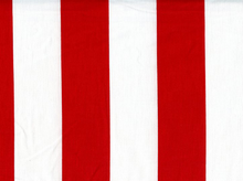 2 Inch Stripes Cotton Red