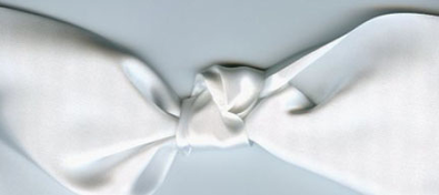 "3.5"" Double Faced Satin Ribbon White"