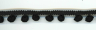 "3/8"" Medium Pom Pom Trim Black"