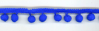 "3/8"" Medium Pom Pom Trim Royal"