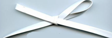 "3/8"" Patent Leather Trim White"