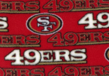 49ers Fleece Fabric Red