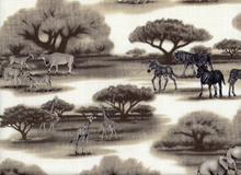 African Safari Cotton Grey