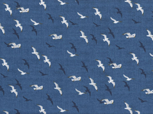 Ahoy Seagulls Cotton in Blue