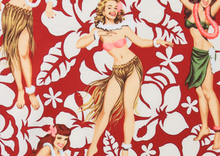 Alexander Henry Aloha Pin Up Girls Cotton Fabric Red