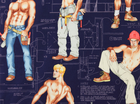 Alexander Henry Construction Worker Hunk Cotton Fabric Navy