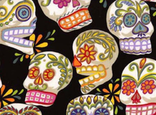 Alexander Henry Fabric Cotton Large Calaveras Black