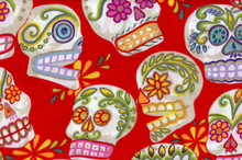 Alexander Henry Fabric Cotton Large Calaveras Red