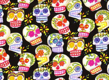 Alexander Henry Fabric Mini Calaveras Black