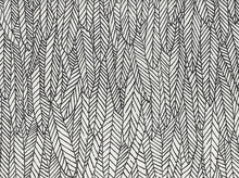 Alexander Henry Feather Forest Cotton Black and White