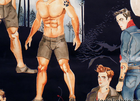 Alexander Henry Haunted House Hunks Cotton