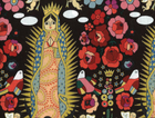 Alexander Henry La Virgencita Cotton Fabric Black