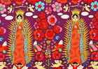 Alexander Henry La Virgencita Cotton Fabric Purple