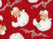 Alexander Henry Merry Christmas Santa Cotton Red