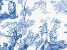 Alexander Henry Midnight Pastoral Toile Fabric Blue White