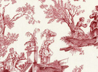 Alexander Henry Midnight Pastoral Toile Fabric Red Cream