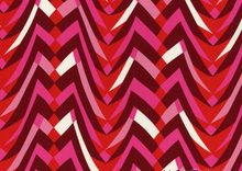 Alexander Henry Olympia Tropolis Chevron Cotton Fabric Pink