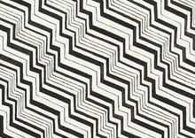 Alexander Henry Olympia Zig Zag Cotton Fabric Black
