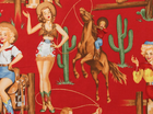 Alexander Henry Rodeo Babes Cotton Red