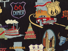Alexander Henry Route 66 Black Cotton