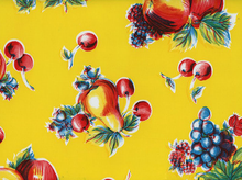Apples and Pears Oilcloth Yellow