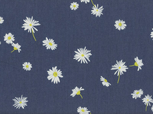 Art Gallery Ragged Daisies Denim