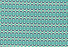 Art Galley Retro Pop Dot Cotton Teal