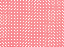 Aunt Grace Dots Cotton Coral