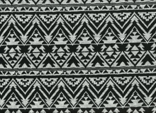 Aztec Double Knit Black