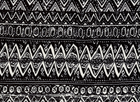 Sketchy Aztec Ponte Black and White