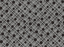 Babs Crosshatch Circle Cotton Black