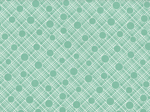 Babs Crosshatch Circle Cotton Mint