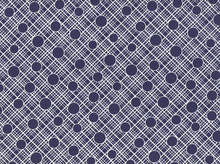 Babs Crosshatch Circle Cotton Navy