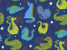 Baby Dragon Cotton Navy