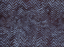 Bali Chevron Batik Cotton Midnight