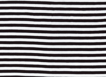 Basic Stripe Bamboo Knit Fabric Black and White
