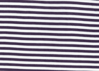 Basic Stripe Bamboo Knit Fabric Grey and White