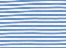 Basic Stripe Bamboo Knit Fabric Spa Blue and White